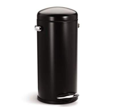 Kosz na śmieci Retro Simplehuman 30 litrów do kuchni czarny